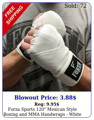 forza sports mexican style boxing mma handwraps whit