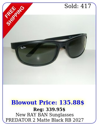 ray ban sunglasses predator matte black rb  w g glass lense