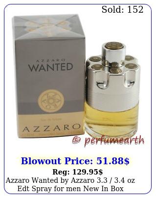 azzaro wanted by azzaro   oz edt spray men in bo