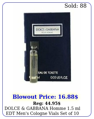 dolce gabbana homme ml edt men's cologne vials set of d