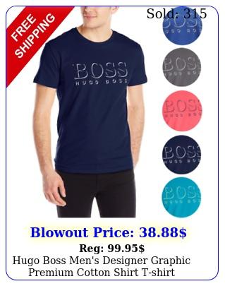 hugo boss men's designer graphic premium cotton shirt tshir