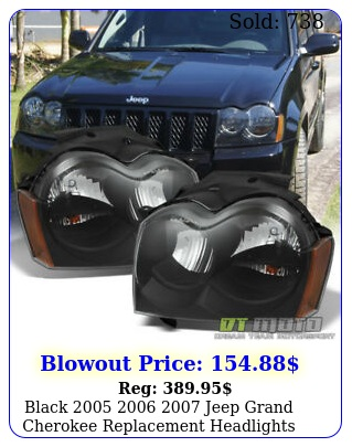 black  jeep grand cherokee replacement headlights lamps left righ
