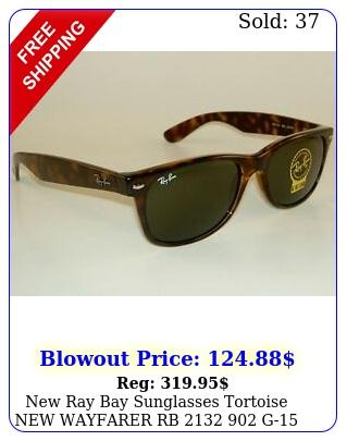 ray bay sunglasses tortoise wayfarer rb  g glass lenses m