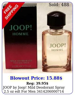 joop by joop mild deodorant spray oz edt me