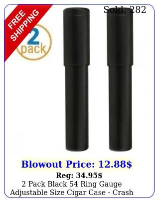 pack black ring gauge adjustable size cigar case crash proof cigar tub