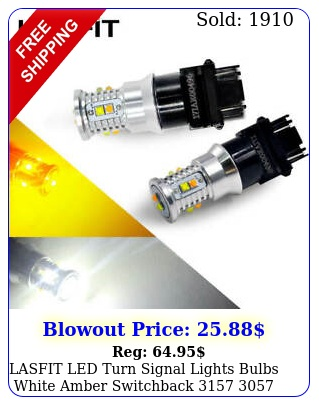 lasfit led turn signal lights bulbs white amber switchback