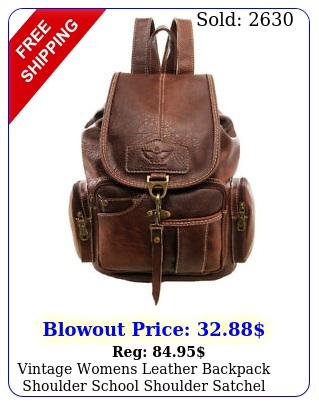 vintage womens leather backpack shoulder school shoulder satchel handbag trave