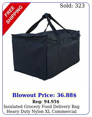 insulated grocery food delivery bag heavy duty nylon xl commercial qualit