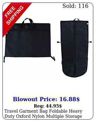 travel garment bag foldable heavy duty oxford nylon multiple storage compartmen