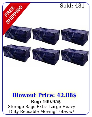 storage bags extra large heavy duty reusable moving totes w zipper pack o