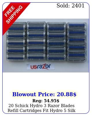 schick hydro razor blades refill cartridges fit hydro silk hydro shave