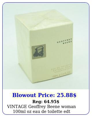 vintage geoffrey beene woman ml oz eau de toilette ed