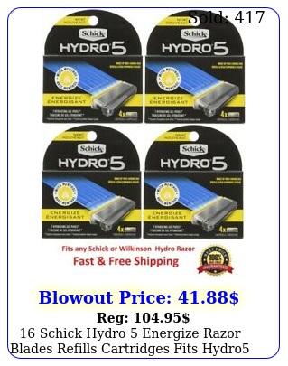 schick hydro energize razor blades refills cartridges fits hydro power