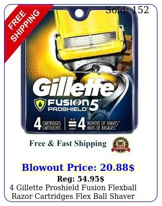 gillette proshield fusion flexball razor cartridges flex ball shaver blade