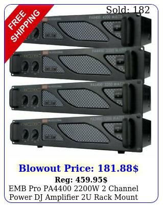 emb pro pa w channel power dj amplifier u rack mount amp stere