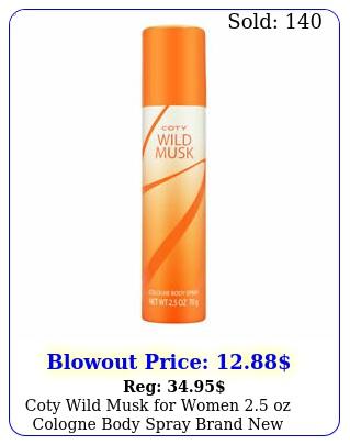 coty wild musk women oz cologne body spray brand ne