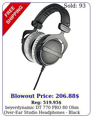 beyerdynamic dt pro ohm overear studio headphones blac