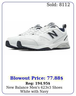 balance men's v shoes white with nav