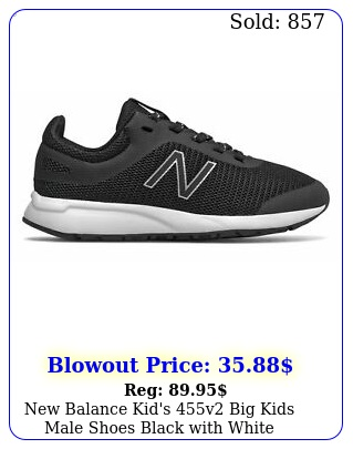 balance kid's v big kids male shoes black with whit