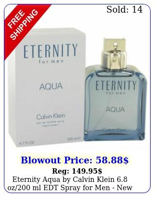 eternity aqua by calvin klein oz ml edt spray men i