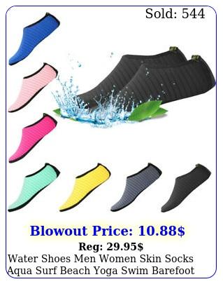water shoes men women skin socks aqua surf beach yoga swim barefoot quickdr
