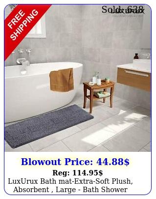luxurux bath matextrasoft plush absorbent large bath shower bathroom ru