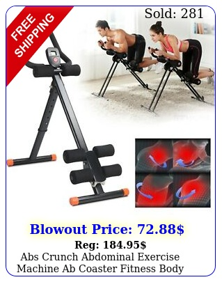 abs crunch abdominal exercise machine ab coaster fitness body muscle workou