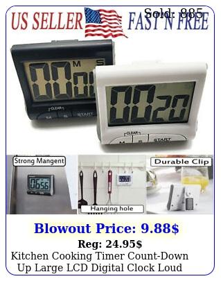 kitchen cooking timer countdown up large lcd digital clock loud alarm magneti