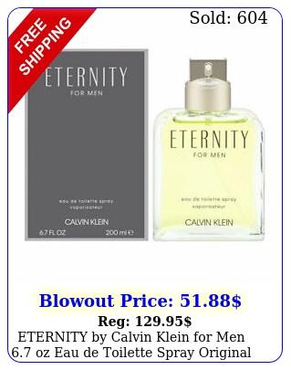 eternity by calvin klein men oz eau de toilette spray original bran