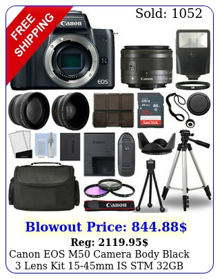 canon eos m camera body black  lens kit mm is stm gb  flash mor