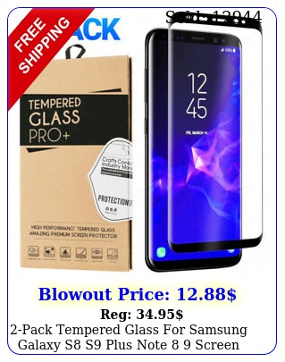 pack tempered glass samsung galaxy s s plus note  screen protecto