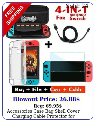 accessories case bag shell cover charging cable protector nintendo switc