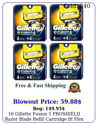 gillette fusion proshield razor blade refill cartridge fit flex ball powe