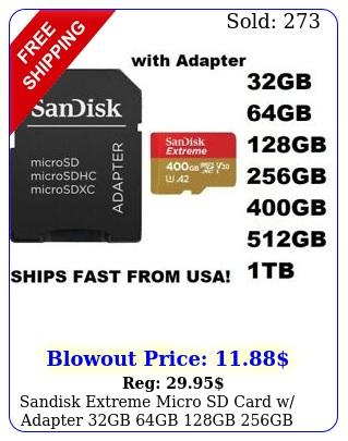 sandisk extreme micro sd card w adapter gb gb gb gb gb nikon gopr