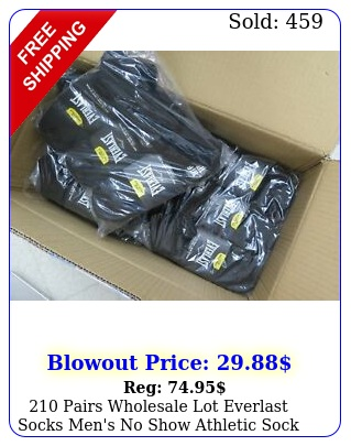 pairs wholesale lot everlast socks men's no show athletic sock siz
