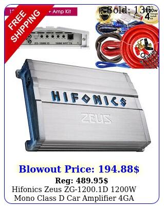 hifonics zeus zgd w mono class d car amplifier  ga w amp ki