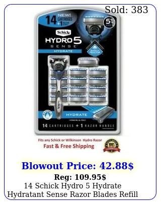 schick hydro hydrate hydratant sense razor blades refill cartridges
