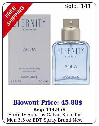 eternity aqua by calvin klein men oz edt spray bran