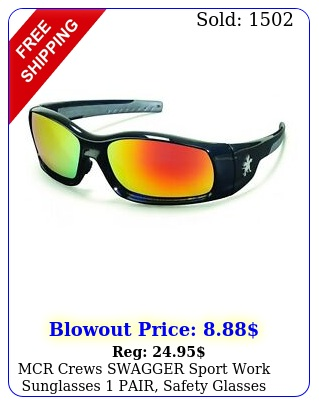 mcr crews swagger sport work sunglasses pair safety glasses various color