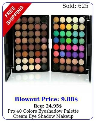 pro colors eyeshadow palette cream eye shadow makeup cosmetic matte shimme