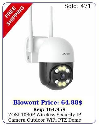 zosi p wireless security ip camera outdoor wifi ptz dome system way audi