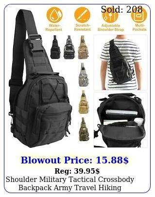 shoulder military tactical crossbody backpack army travel hiking trekking ba
