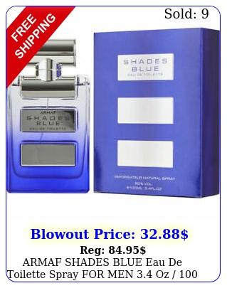 armaf shades blue eau de toilette spray men oz  ml brand i