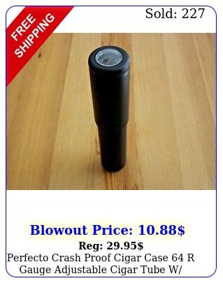 perfecto crash proof cigar case r gauge adjustable cigar tube w hygromete