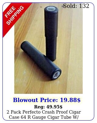 pack perfecto crash proof cigar case r gauge cigar tube w hygromete