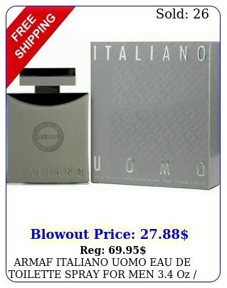 armaf italiano uomo eau de toilette spray men oz  ml brand ne