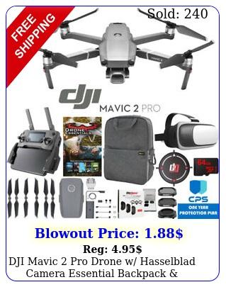 dji mavic pro drone w hasselblad camera essential backpack warranty bundl