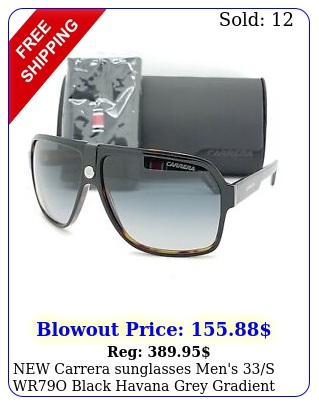 carrera sunglasses men's s wro black havana grey gradient authenti