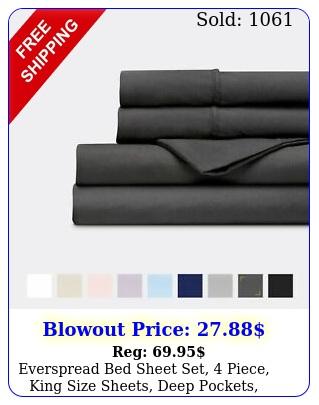 everspread bed sheet set piece king size sheets deep pockets ultra sof