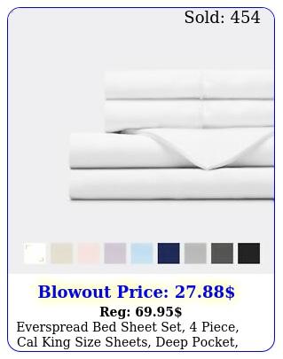 everspread bed sheet set piece cal king size sheets deep pocket ultra sof